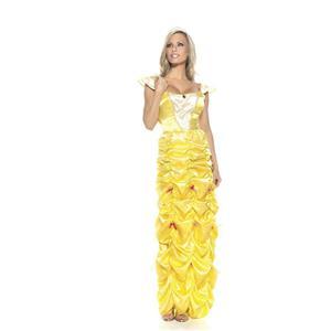 Women's Yellow Southern Belle Princess Costume Size S/M