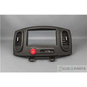 2009-2014 Nissan Cube Radio Climate Dash Trim Bezel with Vents & Hazard Switch