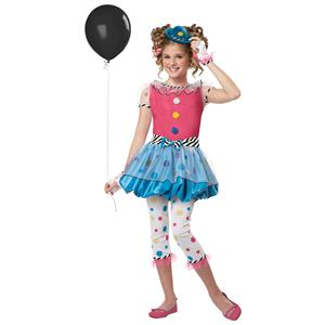 Dotsy Clown Girls Costume Size Small 6-8