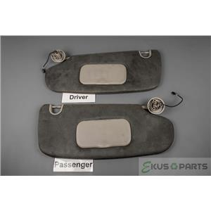03-07 Dodge Ram 1500 2500 3500 Sun Visor Set Cover Lighted Mirror Suede Material