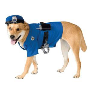 Police Officer Dog Pet Costume Size Medium