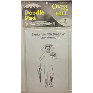 Over The Hilll Doodle Pad Prank Gag Grandpa Birthday Retirement Gift