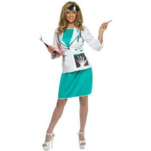 Smiffy's Women's Sexy Private Doctor Adult Costume Size Small 6-8