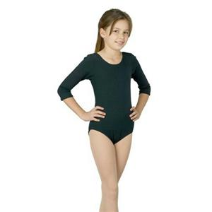 Child Black Leotard Bodysuit Size Large