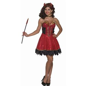 Forum Novelties Women's Devil's Delight Sexy Demon Adult Costume XS/SM (2-6)