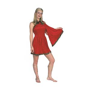 RG Costumes Women's Red Adult Roman Toga Short Dress Size Small 1-3