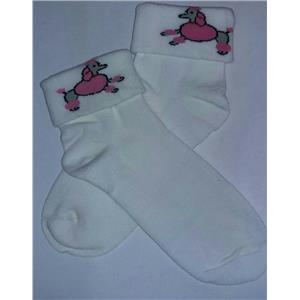 Adult Grease Poodle Socks 50's Costume Accessory