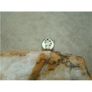 """Palm Tree"" Beach 1/4""-6mm-Large Stamp-Metal-Hardened Steel-Gold & Silver Bar"