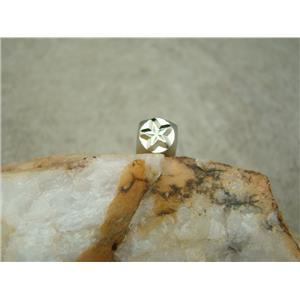 """Nautical Star"" Sea 1/4""-6mm-Large Stamp-Metal-Hardened Steel-Gold & Silver Bar"