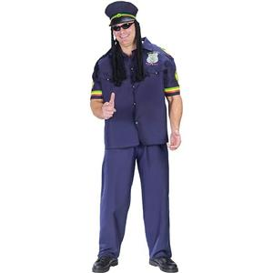 Way High Patrolman Jamaican Rasta Pothead Cop Adult Costume