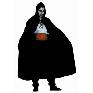 Wizard Vampire Black Nylon Hooded Cape Full Length 56""