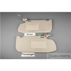 2010-2018 Ford Taurus Sun Visor Set with Covered Lighted Mirrors and Adjust Bars