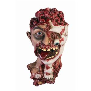 Gory Cut Off Rotted Zombie Head Prop Halloween Haunted House Prop