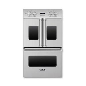 "Viking Professional 30"" Convection Double Electric Fench Door Oven VDOF730SS IM"
