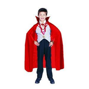 "Red Nylon Taffeta Childs Costume Cape 36"" Long"