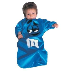 Blue M&M Cute Candy Baby Toddler Bunting Costume 0-9 months