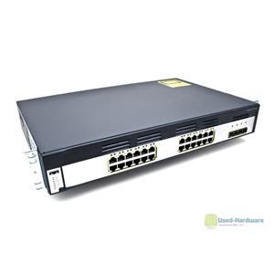 Cisco WS-C3750G-24TS-S 24-Port 10/100/1000 4 SFP Gigabit Stackable Switch 1.5U