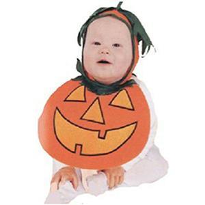 Baby Pumpkin Pie Patch Bonnet and Bib Costume 0-9 months