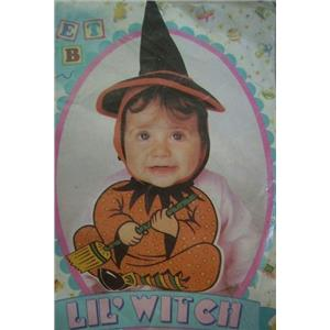 Lil Witch Bonnet and Bib Baby Girl Costume 0-9 months