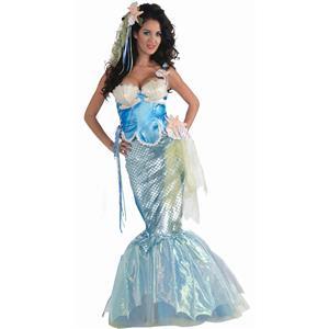 Forum Novelties Women's Metallic Mermaid Deluxe Sexy Costume Size XS/SM (2-6)