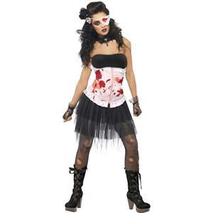 Smiffy's Womens Bleeding Beauty Gothic Adult Corset Tutu Costume Size Small
