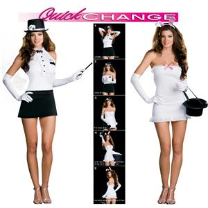 Rabbit in the Hat Magician To Bunny Trick Quick Change Sexy Adult Costume XL
