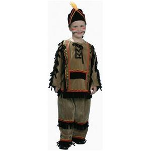 Deluxe Indian Boy Child Costume Dress Up Set Size Medium 8-10