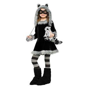 Sweet Raccoon Child Girls Costume Size Large 12-14