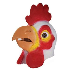 Deluxe Quality Latex Adult Chicken Mask