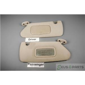 2008-2011 Dodge Dakota Sun Visor Set Pair Covered Driver Side Mirror Adjust Bars