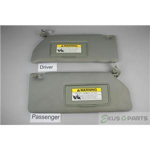 2005-2010 Honda Odyssey Sun Visor Set Pair Covered Lighted Mirrors Adjust Bars