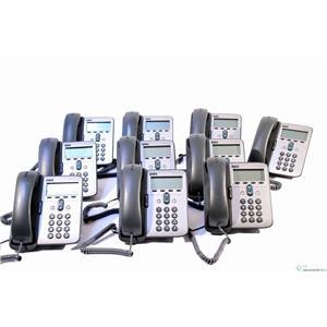 Lot of 10 Cisco CP-7912G 1 Line Unified VoIP 7912 PoE Desktop Phone, SCCP