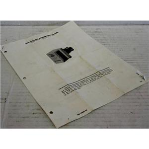 TEKTRONIX MANUAL FOR 067-0559-00 CALIBRATION FIXTURE P6019/P6042 HIGH FREQUENC
