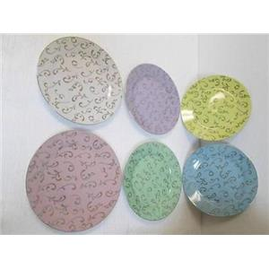 "Classic Coffee & Tea CC162 Decorative 7-1/2"" Plates in six Different Colors  NEW"