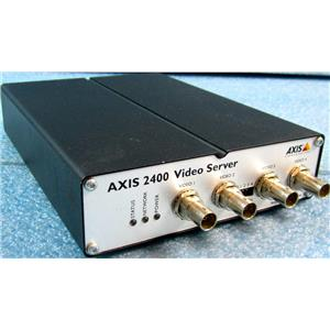 AXIS COMMUNICATIONS 0092-001-02 AXIS 2400 VIDEO SERVER, PRO SURVEILLANCE AND MO