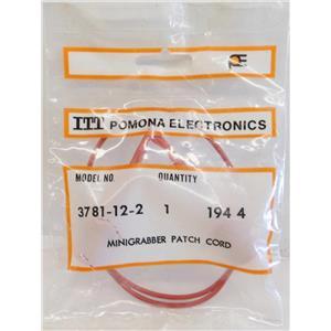 "ITT POMONA ELECTRONICS 3781-12-2 MINIGRABBER TEST CLIP PATCH CORD, 12"" INCHES 1"