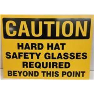 "*LOT OF 17* SAFT-705 ""CAUTION HARD HAT SAFETY GLASSES REQUIRED BEYOND THIS POIN"