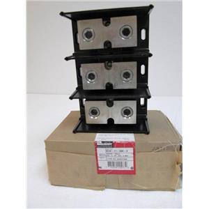 Burndy BDB-11-500-3 Versi-Pole Power Distribution Block Splicer Reducer 3 Pole