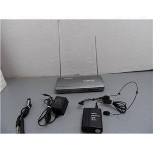 Gemini VHF500 Microphone Receiver W/VHF-30BP Transmitter  204.60MHz For Repair