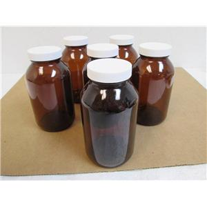 6 Dependable Scientific 9-224-2 Pre-cleaned Amber Glass W/M Packers Bottles  NEW