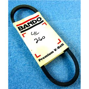 "BANDO 4L260 V-BELT, 26"" NOMINAL OUTSIDE LENGTH, 1/2"" WIDTH, 4L, 5/16"" THICK, SM"