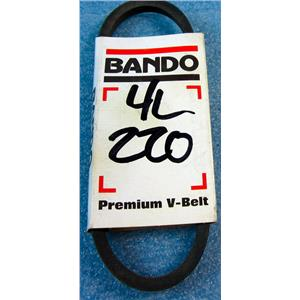 "BANDO 4L220 V-BELT, 22"" NOMINAL OUTSIDE LENGTH, 1/2"" WIDTH, 4L, 5/16"" THICK, SM"