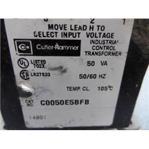 Cutler-Hammer Cat. No. C0050E5BFB Industrial Control Transformer 50VA