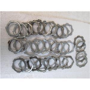 """31 THOMAS & BETTS 143 Rigid Steel Metal 1"""" Conduit Locknuts  *USED*"""