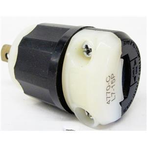 LEVITON 4770-C LOCKING PLUG, NEMA L7-15 L7-15P, 2P 3W LOCKING, INDUSTRIAL, 15A