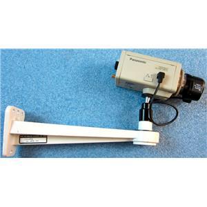 PANASONIC WV-BP134 B/W BLACK WHITE 1/3 CCTV SECURITY VIDEO CAMERA, WITH MOUNT