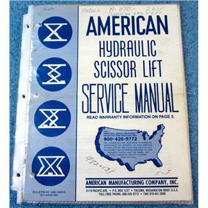 AMERICAN MANUFACTURING COMPANY AMC-1400-G HYDRAULIC SCISSOR LIFT SERVICE MANUAL