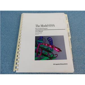 The Model 610A Data Analysis Program User Manual P/N 903257 Software Version 2.0