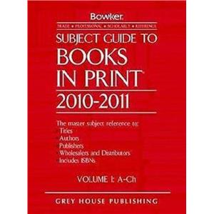 Subject Guide to Books in Print 6 Volume Set 2010/11 by Hardcover Book