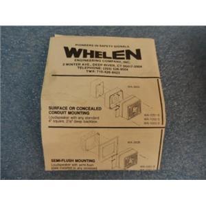 Whelen Cat. No. WA1052F Quadra-Tone Speaker W/Box And Installation Instructions